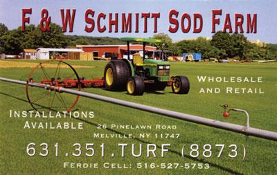 Sod F W Schmitt Family Farm Melville Long Island Ny